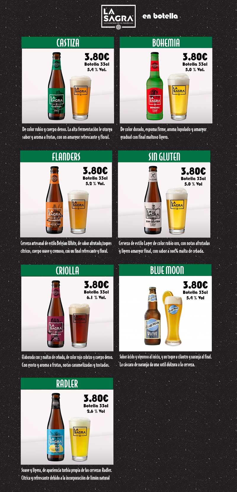 "Cerveza en botella ""La Sagra"""