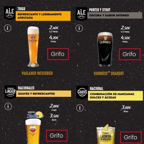 Cerveza de grifo